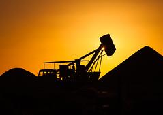 Mining equipment in Opal Field (lespullen1) Tags: australia cooberpedy mining sillouette southaustralia sunset