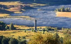 Glenfinnan and Eilean Donan (jaffa600) Tags: mistymorning mist misty scotland nature outdoor scenic highlands scenery sunshine glenfinnan glenfinnanviaduct viaduct railbridge railway greatglen glenfinnanmonument monument jacobiteuprising jacobite lochshiel