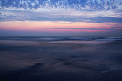 Andulations - 2016 (Wilma v H - thanks so much for lovely feedback! Ru) Tags: andulations movementofwaves waves bluehour longexposure pink clouds maasvlaktestrand rotterdam water waterscapes beaches nederland skies canoneos60d