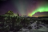 Aurora in Northern-Norway (Kenneth Solfjeld) Tags: aurora borealis norway norge northernnorway nordnorge nordland ofoten tysfjord winter sky ionosphere ionosfære ionosfæren solar solarstorm solstorm fjell electrically charged particles oxygen nitrogen magnetic pole gaseous molecules high altitude