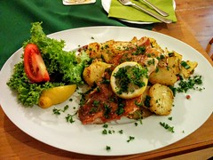 Cod Fillet with Braised Potatoes (hhschueller) Tags: luebeck germany food duitsland deutschland schleswigholstein