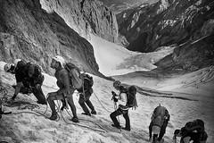 Hllentalferner to Klettersteig Transition (decineper) Tags: glacier mountain hllentalferner hollentalferner hllental hollental zugspitze alps germany klettersteig viaferrata climbing hiking crevasse
