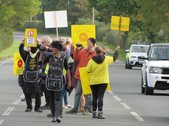 Fracking - We said no! (vintage vix - Everything is a miracle) Tags: fracking peacefulprotest wesaidno prestonnewroad