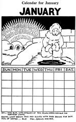 January calendar (katinthecupboard) Tags: school schoolprojects schooldrawings schoolposters seasonalactivities calendars january igloo farnorth polarcap icefishing