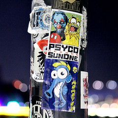 Sydney, Australia (PSYCO ZRCS 10/12) Tags: sticker stickers stickerart stickerporn stickerlife stickerculture street art slaps slap tagging vinyl bombing worldwide psyco australia sydney sunone grilled pole graffiti tags digital collab collabo