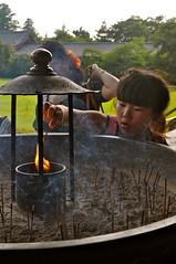 Little girl (julieferir) Tags: light girl japan fire little nara