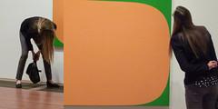 "A10421 / Ellsworth Kelly's ""Orange Green"" scrutinized diptych (janeland) Tags: sanfrancisco california detail deyoungmuseum diptych orangegreen 94118 ellsworthkelly nativeofnewburghny"