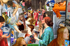 """Pre-Raphaelite Laundromat"" (barry.kite@att.net) Tags: tide lord laundry everett leighton millais dryers flamingjune ophelia narcissus preraphaelite frederic ladyofshalott washingmachines johnwilliamwaterhouse rosetti dryersheets fredericksandys john"
