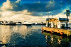 sunset station clouds reflections boats seagull bluesky urbanexploration fuel puntadeleste ancap