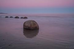 Moeraki Boulders (Guldenfels-photos) Tags: sunset sea beach sunrise coast am nikon boulders dunedin oamaru moeraki est i d700