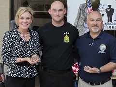 Rep. Heather Fitzenhagen and Rep. Matt Hudson pictures with a FSW Student Veteran