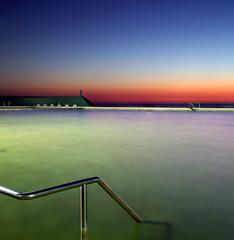 Smoke on the Water Pano (Sterling67) Tags: water reflections 7d tamron railings predawn 2470 oceanbaths