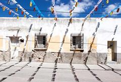 Street Flags_9297 (hkoons) Tags: cars mexico town streetscene historic mining sanluispotosi charcas