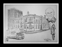 life and times (Broady - Salford art and photography) Tags: art beer illustration pencil manchester sketch artwork pub graphic drawing ale salford paddock broady crosslane broadhurst lifeandtimesofmrrothwell