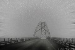 Over The Bridge (chad.abramovich) Tags: travel winter newyork landscape vermont december motionblur snowfall crownpoint champlainbridge