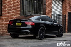 Audi S5 with HRE 301M in Satin Black by Wheel Enhancement (4) (HRE Wheels) Tags: black audi s5 301m