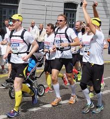 Marathon pram runners (bokage) Tags: sweden stockholm marathon running gamlastan runner oldtown skeppsbron bokage