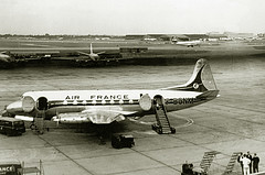 Fleeting Fifties (crusader752) Tags: london bea 1950s boeing lockheed constellation 708 airfrance heathrowairport vickers viscount boac l1049 stratocruiser b377 fbgnm thequeensbuilding
