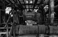 gas power station (D40OOM.eu) Tags: white black industrial pipes tubes gas kraftwerk powerstation scharzweiss rohle abandonedurbex d40oom