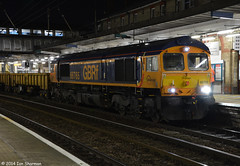 No 66765 6th Dec 2014 Ipswich (Ian Sharman 1963) Tags: yard train diesel no great shed engine engineering loco 66 class dec kings seven british locomotive ipswich 6th 2014 railfreight whitemoor gbrf 66765