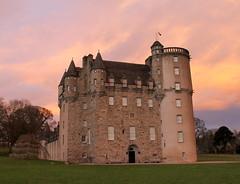 Castle Fraser (NYE 2014) (RStreetUK) Tags: sunset castle canon scotland aberdeenshire fireinthesky castlefraser eos60d