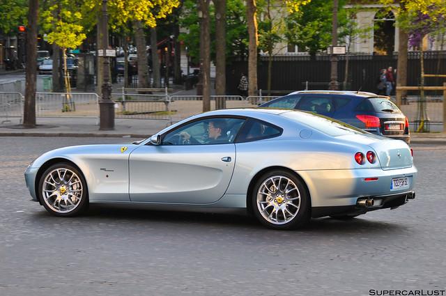 paris france exotic gt 2009 supercar v12 ferrari612scaglietti
