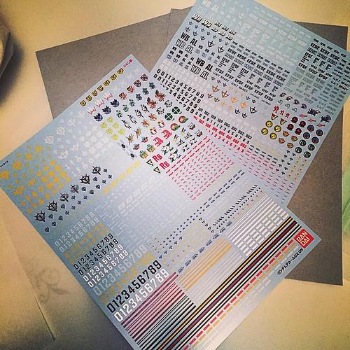 New P-Bandai #gunpla DX decal sheets! Yaaaaaaaay. EFSF & Zeon OYW! #gundam