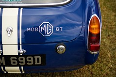 MGB GT (pigpogm) Tags: blue light car photos rear mg badge mgb mgbgt middevonshow voigtlander40f14 mxpp normalityunframed