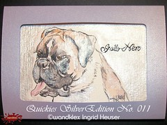 wandklex SilverEdition No.011GalloNero (wandklex Ingrid Heuser freischaffende Knstlerin) Tags: colour ingrid water metal germany painting french gold golden glamour hand magic pug rottweiler card watercolour edition greeting luxury luxus kennel quickies mops aquarell ratzeburg malerei heuser unikat einzelstck goldedition gruskarte gruskarten wandklex metaledition goldfarbne frenchei westentaschenkunst
