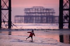 Ballet at Low Tide (Alan MacKenzie) Tags: sea beach girl happy pier brighton child dancing westpier brightonpier