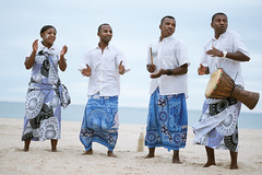 Traditional song and dance by Anjajavy staff.