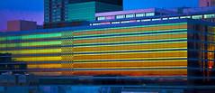 Sunset Reflection (Mark Chandler Photography) Tags: city atlanta sunset urban color colour reflection glass night canon ga buildings georgia photography aquarium photo bright dusk atl 7d centennialpark markchandler