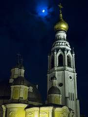 / Bell tower of The Saint Sophia Cathedral in Vologda (svraskin_k) Tags: church architecture night russia north belltower russian orthodox       vologda    micro43 olympusomdem1 panasoniclumixleica25mmf14
