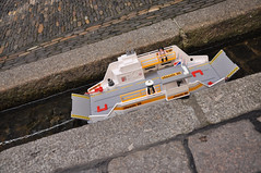 DSC_3408 [ps] - Chain Ferry (Anyhoo) Tags: urban water stone ferry germany toy deutschland boat stream floating chain paving gutter freiburg baden playmobil paved gully rill moored badenwürttemberg carferry bächle freiburgimbreisgau anyhoo bachle photobyanyhoo
