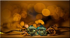 The Weekly Colour Challenge-Turquoise and Gold. (Jo- ON VACATION BE BACK SOON :)) Tags: glass beads shiny bokeh stones turquoise week2 theweeklycolourchallenge