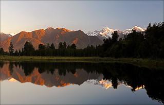 Mount Cook im Spiegel
