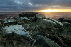 Winter Sunset at the Druid's Seat (andy_AHG) Tags: park winter sunset history rural walking outdoors evening unitedkingdom district peak folklore hills national moors legend westyorkshire pennines rambling huddersfield beautifulscenery edges prehistory pursuits britishcountryside northernengland ravenrocks ancientplaces wessendenhead marsdenmoor westnab druidsseat melthammoor