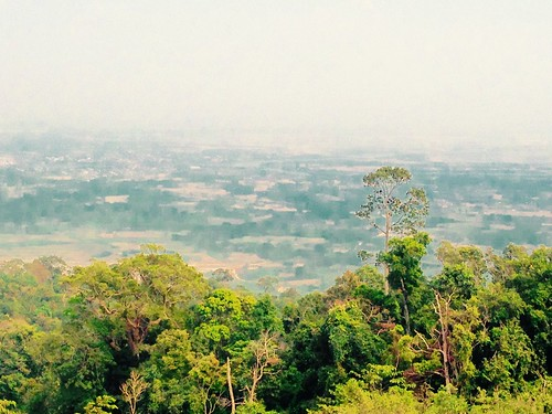 View of Kampot, Bokor Mountain