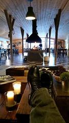 Reykjavik, Iceland - 04 (RealAlanTaylor) Tags: hotel iceland fireplace candles ern feetup alantaylor checkeredfloor 2015 reykjavikiceland