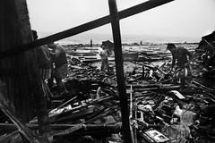 Chittagong coast as seen after being hit by cyclone Roanu on Saturday. (Murad Fotografia) Tags: blackandwhite monochrome documentary cyclone bangladesh reportage chittagong hasanmurad cycloneroanu