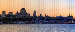 Crpuscule (40 photos en 40 minutes) (pagarneau) Tags: city sunset canada skyline river evening timelapse quebec dusk stlawrence quebeccity stlaurent soir chteau fleuve frontenac lvis