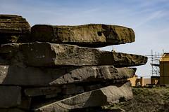 Ancient beast eats cross (jackharrybill) Tags: westyorkshire haworth penistonehill