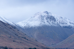 Wast Water Snow Capped Peak- Great Gable (Rob'81) Tags: lake water district great gable wast
