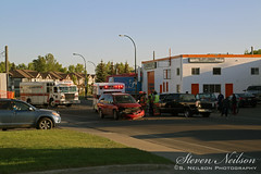 Red Deer Accident (S. Neilson Photography) Tags: life red rescue fire support accident ambulance deer alberta vehicle motor rcmp heavy department mva collision advanced mvc