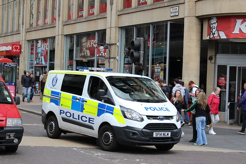 GLASGOW SF14 NLM FORD TRANSIT CUSTOM POLICE SCOTLAND