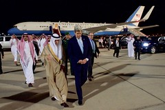 Secretary John Kerry Walks With Saudi Arabia Foreign Minister Adel al-Jubeir at Jeddah International Airport (U.S. Department of State) Tags: jeddah johnkerry saudiarabia josephwestphal adelaljubeir muhammadbinnayef