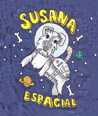 Susana Espacial (pilyclix) Tags: chile art moleskine illustration arte drawing space selva schnauzer doodle galaxy estrellas spaceman draw dibujo ilustration ilustracion galaxia astronauta copic espacio chilean universo planetas dibujar doodler ilustrated ilustrar fabercasttle pilyclix