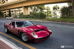 Lamborghini Miura SVJ (Raphal Belly Photography) Tags: red paris france cars car canon de french rouge photography eos hotel automobile riviera photographie south voiture casino montecarlo monaco mc belly 7d carlo monte raphael rosso lamborghini luxury rb supercar sv spotting jota supercars raphal miura rossa principality principaut 5090 svj 98000