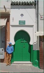 the green door of Tangier (mhobl) Tags: door man green morocco maroc tanger tanja