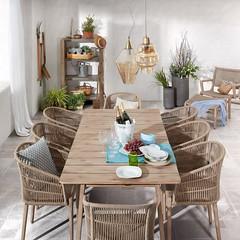 Arredamento etnico in legno per il tuo giardino veranda portico su mondoarredamento (Mondo Arredamento) Tags: veranda tavolo sedia giardino portico esterno cuscino